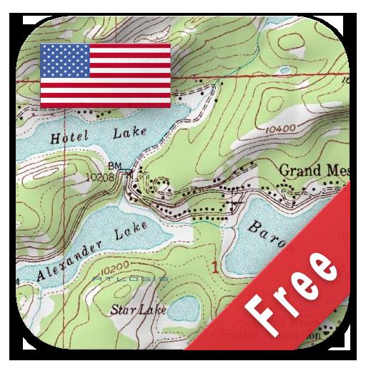 US Topo Maps Free icon