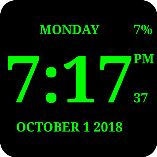 Digital Clock Live Wallpaper-7 App For Windows 10